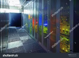 Data Center Lighting Design Communication Equipment Room Lighting Data Center Stock