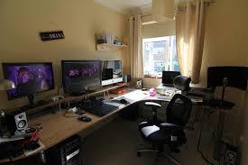 home office gaming computer. Gaming Corner Desk Ideas \u2014 Home Design : . Office Computer