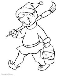 Christmas Elf Coloring Pages Printable Littledelhisfus