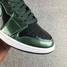 nike air jordan 1 high grove green patent leather 332550 300 mens basketball shoes shoesmass com