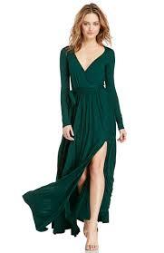 Wrap Maxi Dress Long Sleeve All Women Dresses