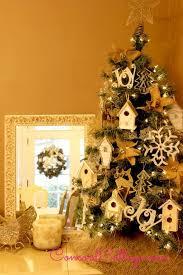 glittery birdhouse ornament, christmas decorations, crafts, decoupage,  seasonal holiday decor