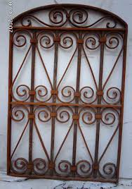 Wrought Iron Color Wrought Iron Victorian Gate Hanging Wall Garden Decor 6 Click