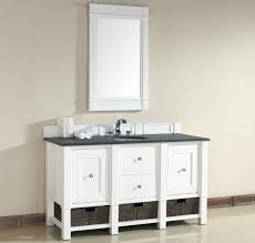 white single bathroom vanity. Abstron 60 Inch White Single Sink Bathroom Vanity Optional Countertops