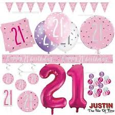 Pink Banners Details About Pink 21st Birthday Party Decorations Supplies Girls Ladies Balloons Banners Etc