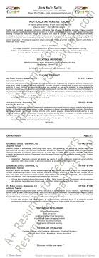 Modern Resume For Instructors Math Teacher Resume Example