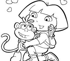 Dora Printables Coloring Dora The Explorer Coloring Pages Coloring