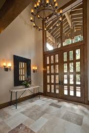 rustic double front doors entry traditional with indoor potted as well as gorgeous front door chandelier