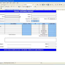 travel expense template travel expenses report excel templates inside travel expense