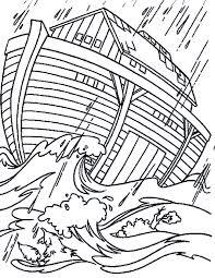Kleurennu Ark Van Noach In Een Storm Kleurplaten