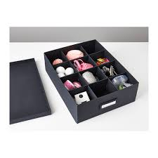 ikea office storage boxes. Beijing Genuine IKEA Hina Lingerie Socks Office Storage Box With Grid Black New Products Ikea Boxes T