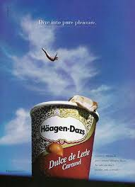 best haagen daz advertising images advertising  exaggeration dive haagen dazs pure pleasure pool 2002 ice cream ad dairy