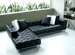 low profile couch black leather tufted sofas couchsurfing delete u75