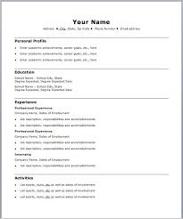 Simple Resumes Templates Bas Easy Resume Template Free Best Free