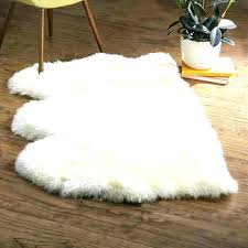 faux fur area rug 8x10 sheepskin rugs s large white