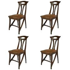 deco style furniture. Art Deco Era Furniture Modern Set Of Four French Walnut And Leather Side Style T