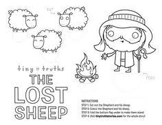 Small Picture Parable of the Sheep and the Goats Coloring page Sunday School