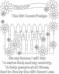 Small Picture Daisy Scout Promise Coloring Pages Coloring Page Girl Scout