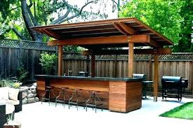 patio bars for build outdoor bar station your own home modern barbecue kitchen and sets