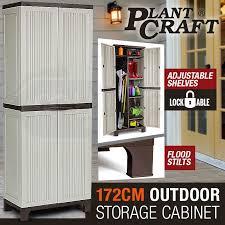 172cm lockable outdoor storage cabinet by plantcraft