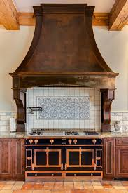 Hood Fan Designs Stand Out Custom Cherry Hills Range Hood In Rustic Iron