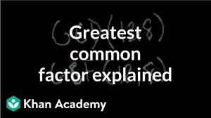 Greatest Common Factor Table Chart Greatest Common Factor Gcf Explained Arithmetic Video