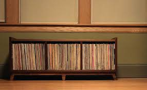 vinyl record furniture. Functional Furniture With Our LP Storage Bench | Mid-Century Modernized Custom Vinyl Record A