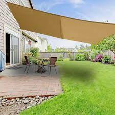 5m x 4m sun shade sail garden awning