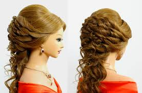 Beautiful Prom Wedding Hairstyle For Long Hair Tutorial Youtube
