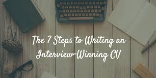 Writing A Cv The 7 Steps To Writing An Interview Winning Cv