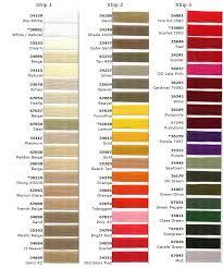 Anefil Anecord Nylon Thread Color Chart