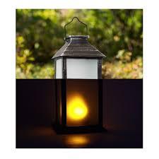 Lantern Pathway Lights Solar Powered Decorative Lanterns Large Black Lantern Costco