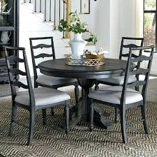 round table roseville corners single pedestal round dining table with 4 side chairs by home round