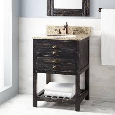 Pine Bathroom Cabinet 24 Benoist Reclaimed Wood Vanity For Undermount Sink Antique