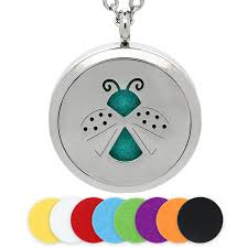 <b>Diffuser Necklace 30MM Silver</b> Magnetic Insect Stainless Steel ...