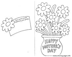 Print A Mother S Day Card Online Happy Mothers Day Card By Coloring Pages Printable