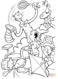 Small Picture Cat in the Hat by Dr Seuss coloring page Free Printable