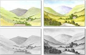 how to paint watercolour examples of tonal contast