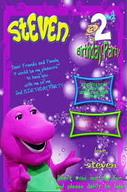 barney party invitation template barney birthday printable invitation cards trials ireland