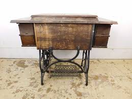Treadle Sewing Machine Cabinet Antique 1900 Treadle Sewing Machine Oak Cabinet Sc Special