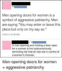 control women and memes men opening doors for women is a symbol
