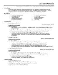 Best Inventory Supervisor Resume Example Livecareer