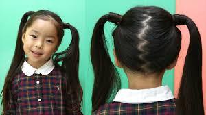 子供女の子のゴムやリボンを使った可愛い髪の結び方 Coolovely