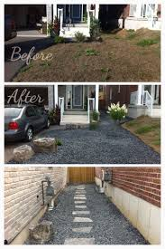 Small Front Driveway Design Ideas Low Maintenance Front And Side Yard Great For A Small Front