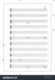 Treble Clef Music Sheet A 4 Music Sheet Note Stave Treble Stock Vector Royalty Free