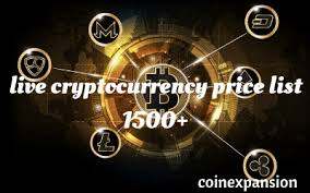 Live Cryptocurrency Prices List 1700 Altcoins Live Price