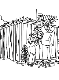 Small Picture Building a Sukkah Coloring Page crayolacom