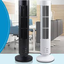 portable usb mini bladeless fan no leaf air conditioner cooling cool desk tower fan for home