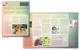 Newsletter Templates Pages Medical Clinic Newsletter Template Design