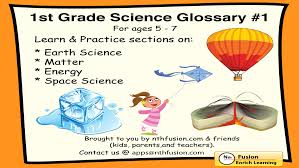 1st Grade Science Glossary #1 : Learn and Practice Worksheets for ...